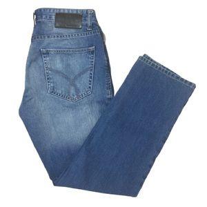 Calvin Klein Slim Straight Medium Wash Faded Jeans